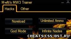 скачать чит CoD MW3 SP Trainer Beta